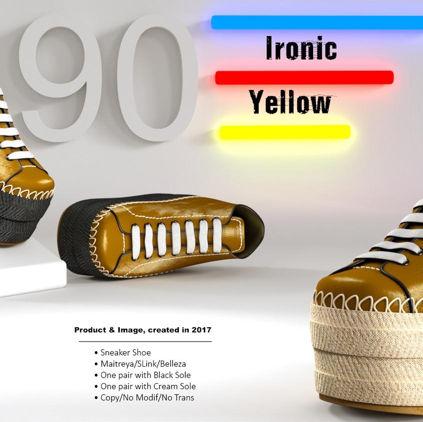 AZOURY - Ironic Sneaker Shoe [Yellow]