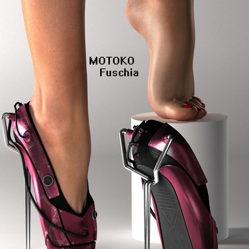 AZOURY - MOTOKO Ballet Shoes [Fuschia]