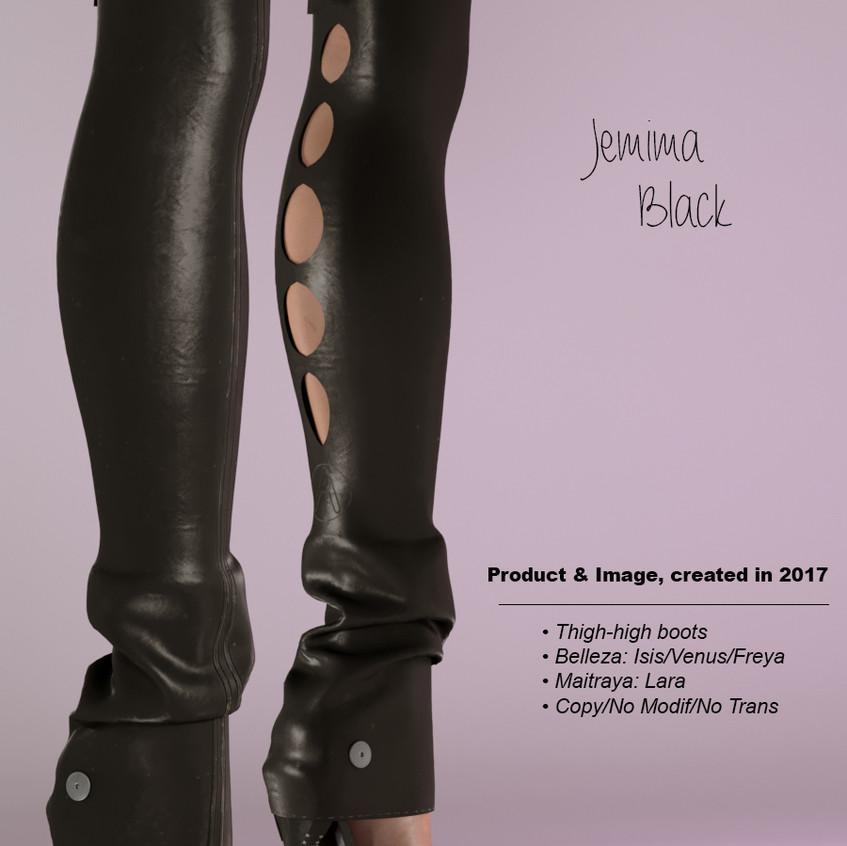 AZOURY - Jemima Thigh-high boots Black