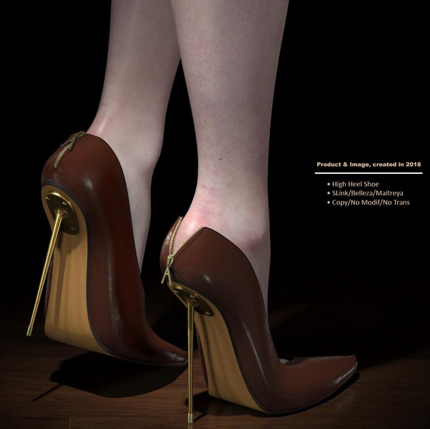 AZOURY - Kardia High Heel Shoe [Brown]