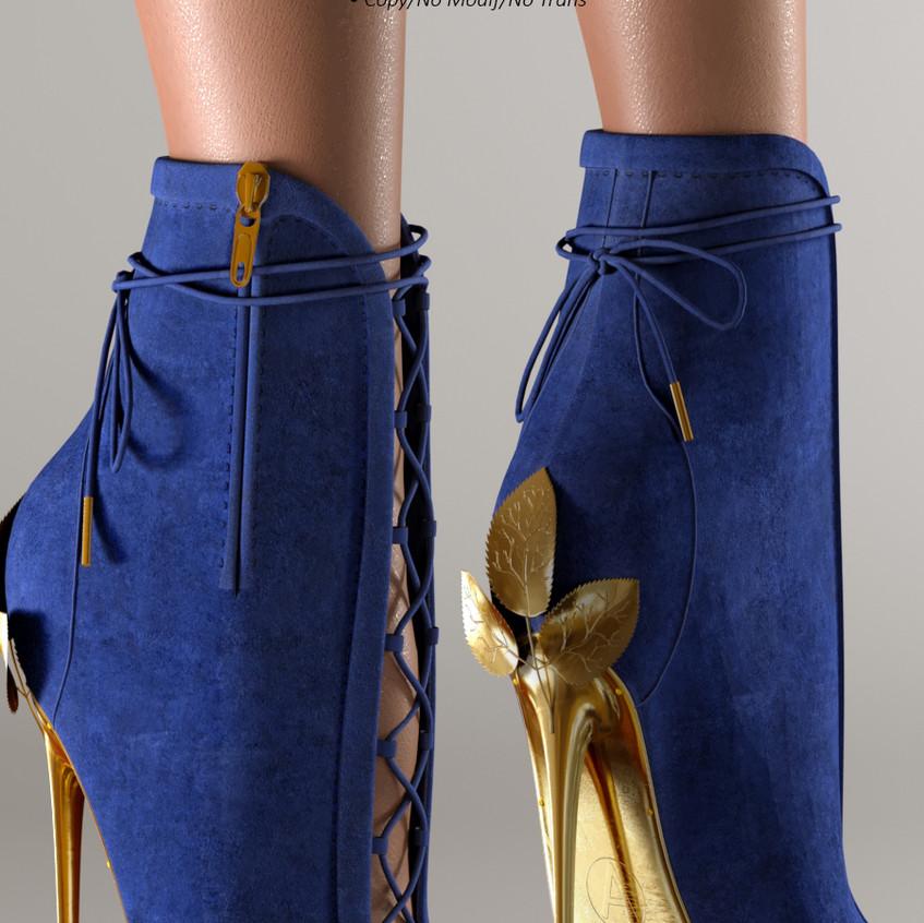 AZOURY - Ahira High Heel Shoe [Blue]