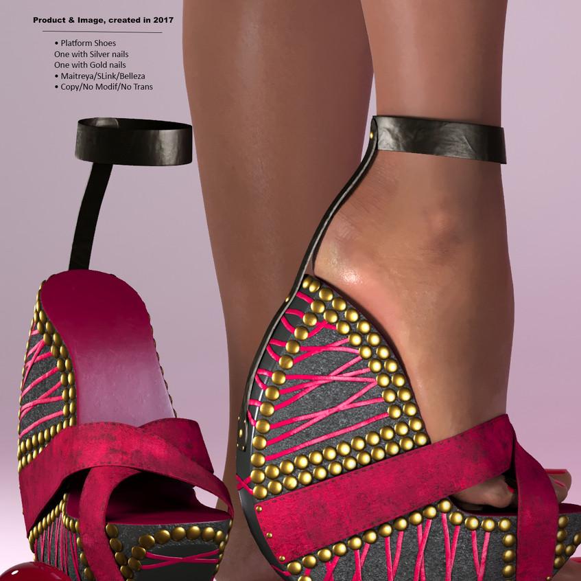 AZOURY - Ouroboros Platform Shoes [Fuschia]