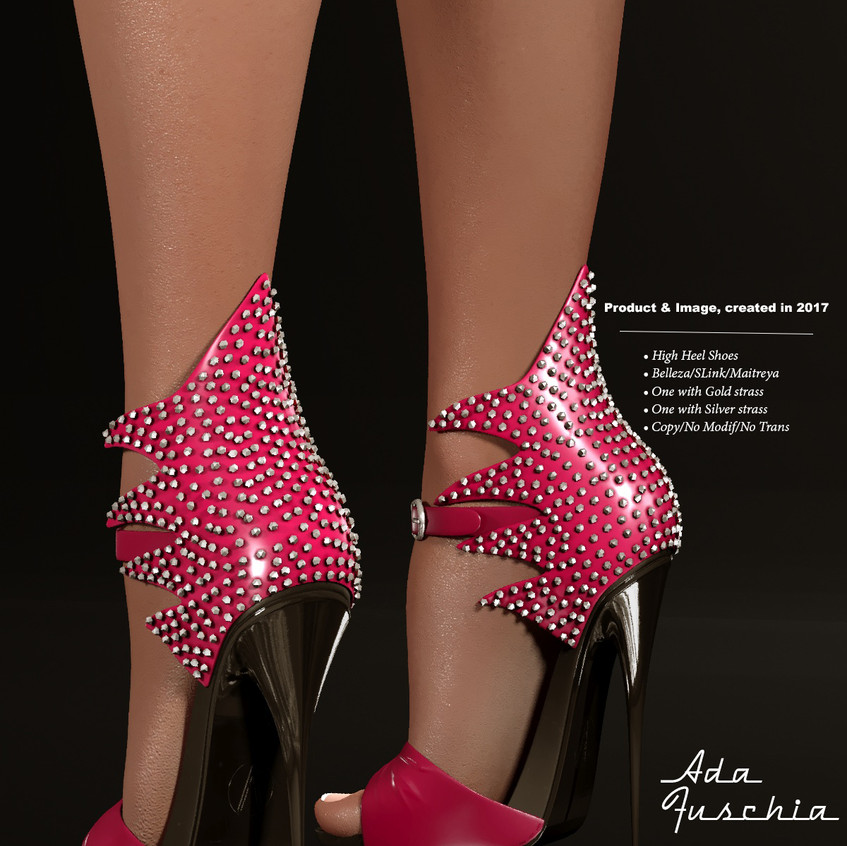 AZOURY - Ada High Heel Shoe [Fuschia]