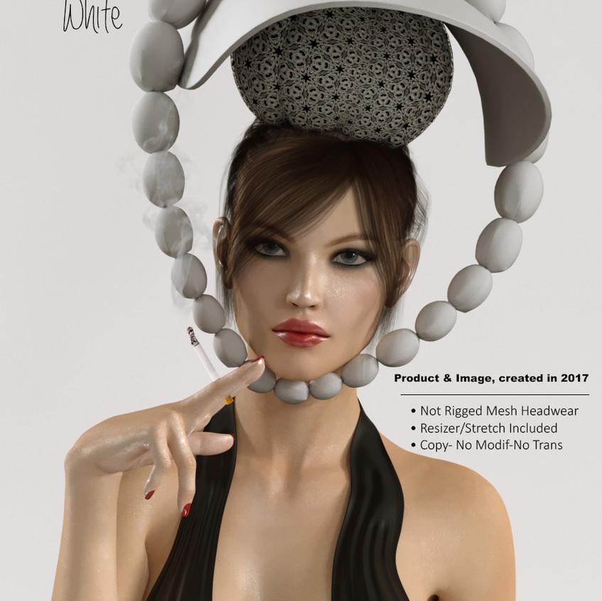 AZOURY - Doly Headwear [White]