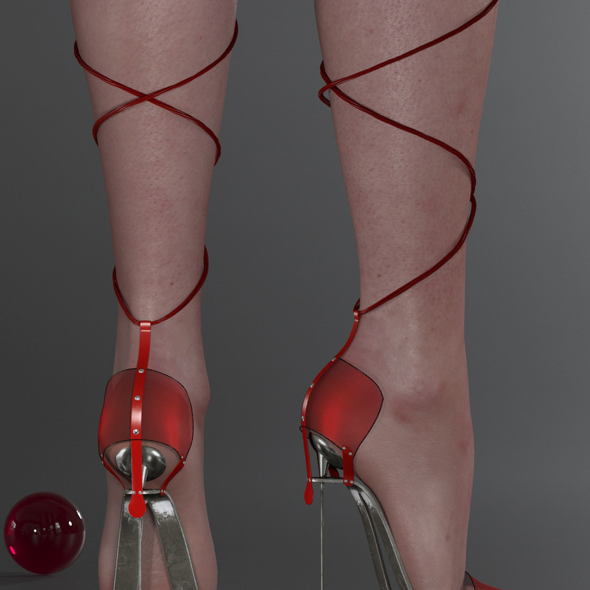 AZOURY - Obsession High Heel Shoe [Red]