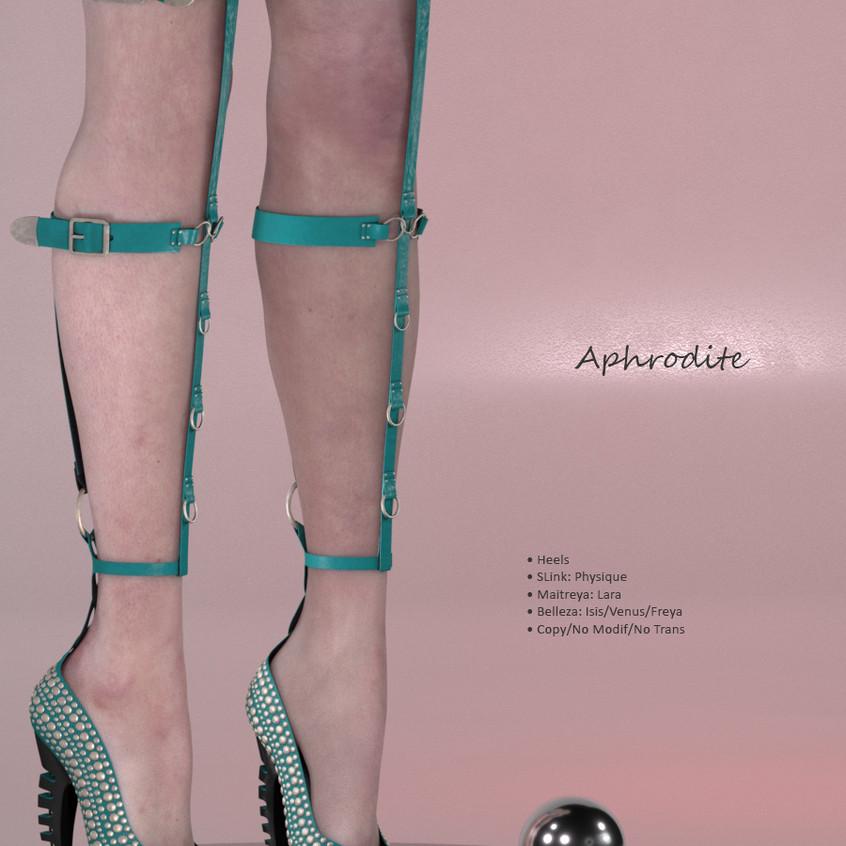 AZOURY - Aphrodite Heels {Turquoise}
