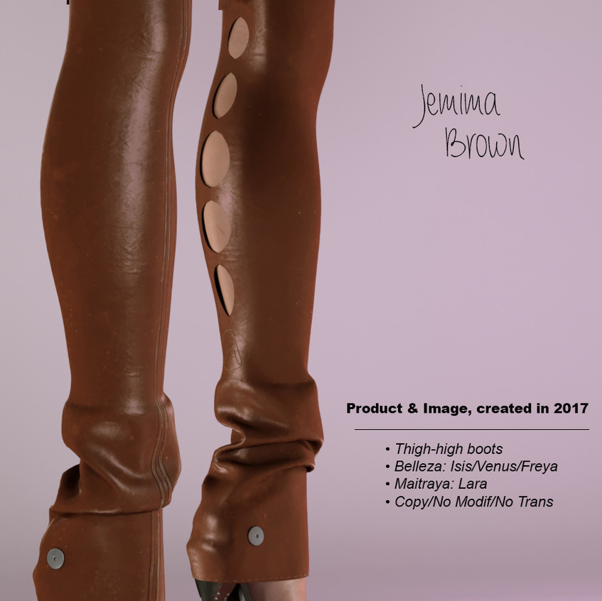 AZOURY - Jemima Thigh-high boots Brown