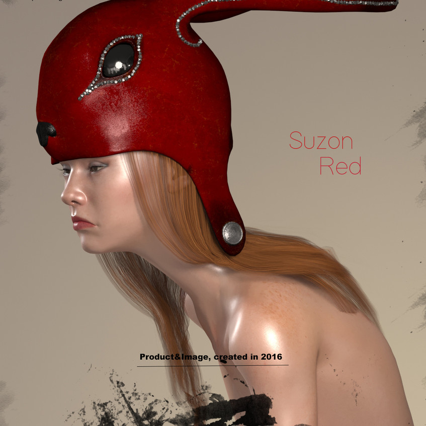 AZOURY - Suzon Leather Headwear [Red]