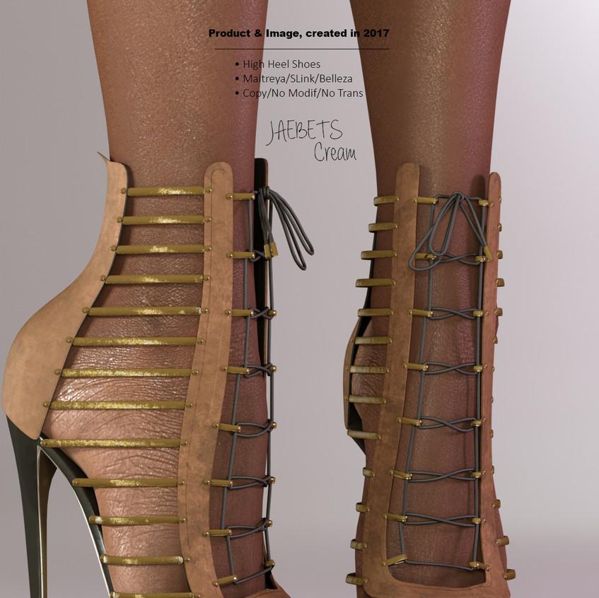 AZOURY - Jaebets high heel shoe [Cream]