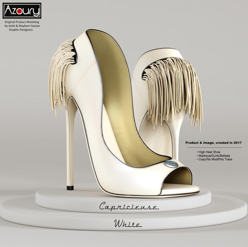 AZOURY - Capricieuse High Heel Shoe [White]