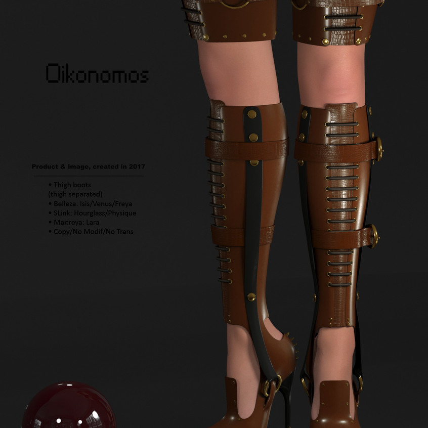 AZOURY - Oikonomos Thigh Boots [Caramel]