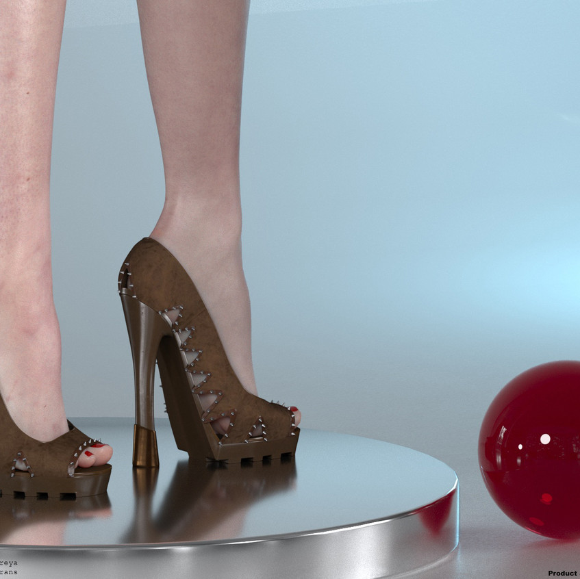 AZOURY - Asha High Heel Shoe [Brown]