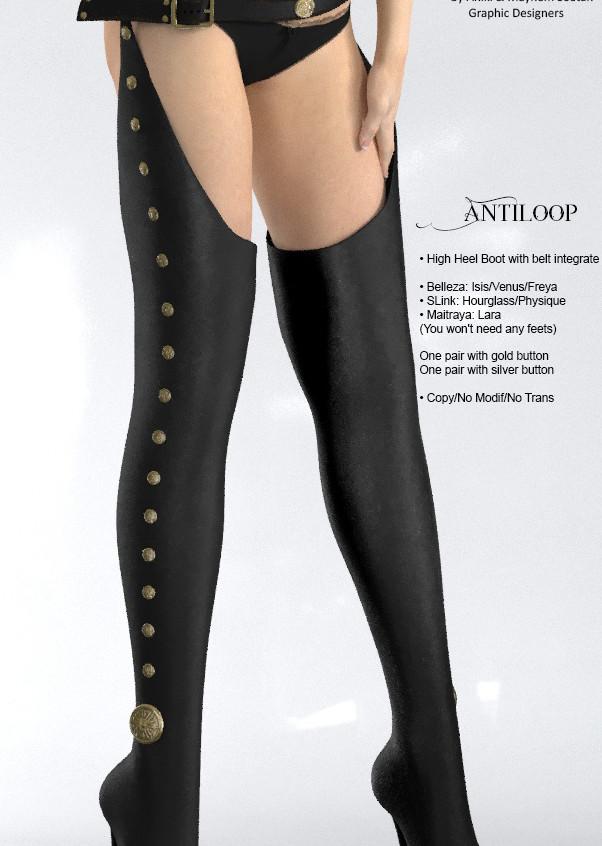 AZOURY - Antiloop leather [Black]