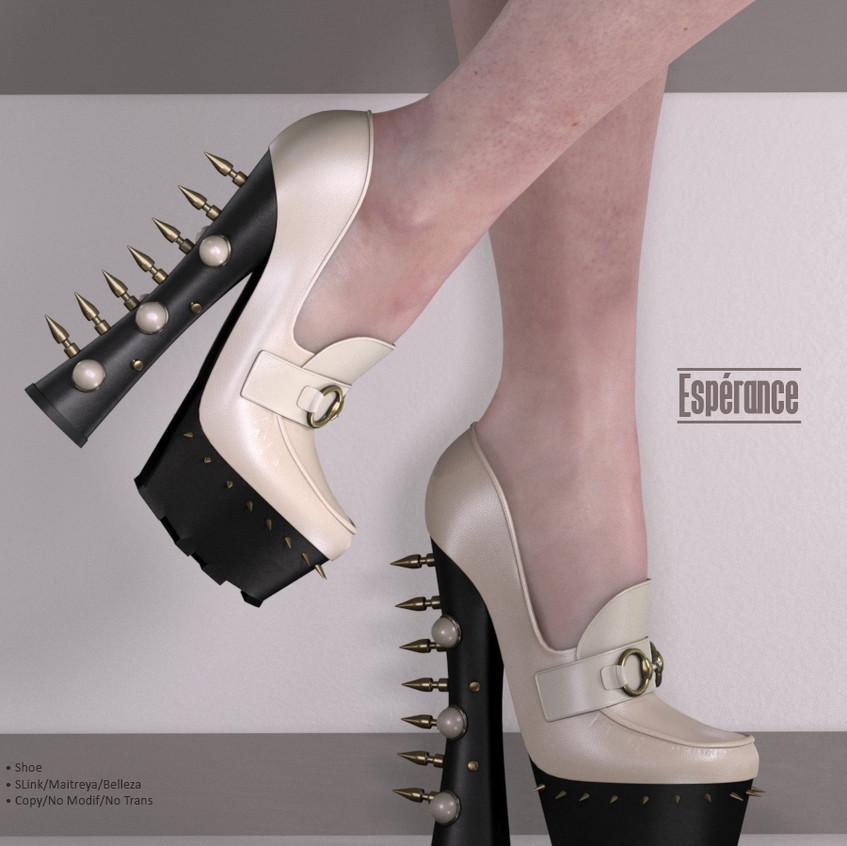 AZOURY - Esperance Shoe {White}