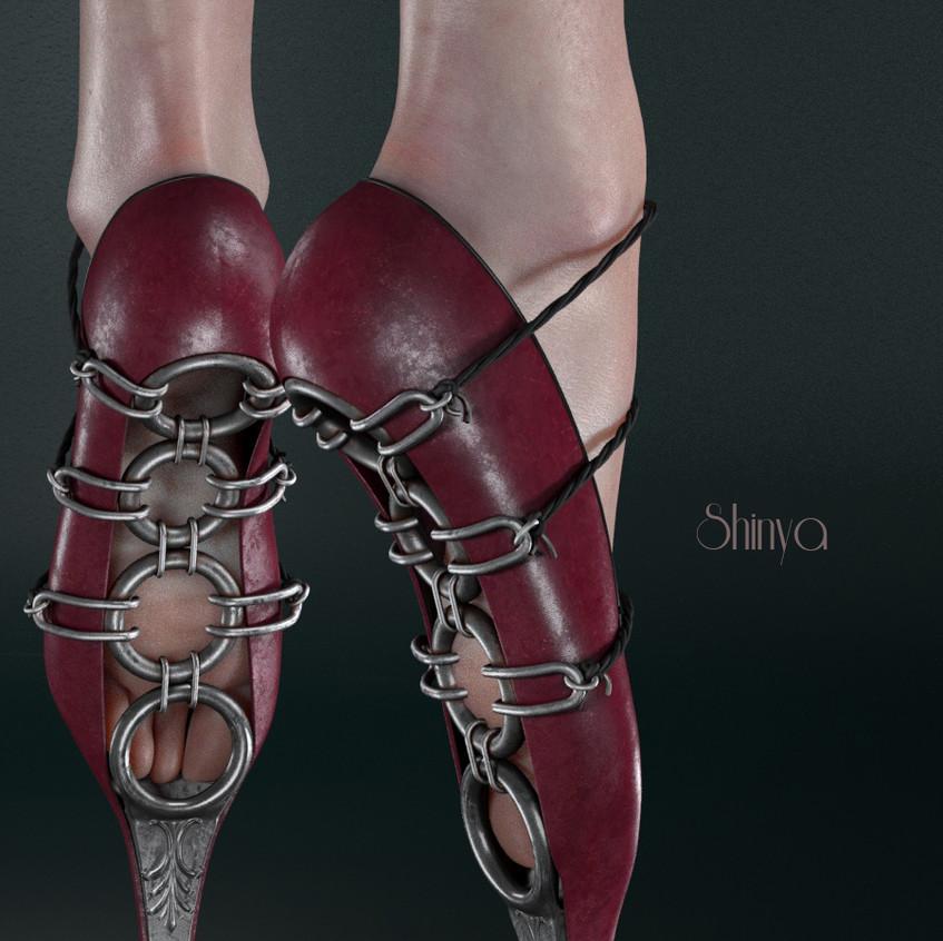 AZOURY - Shinya Ballet Shoe SLink Pointe {Fuschia}