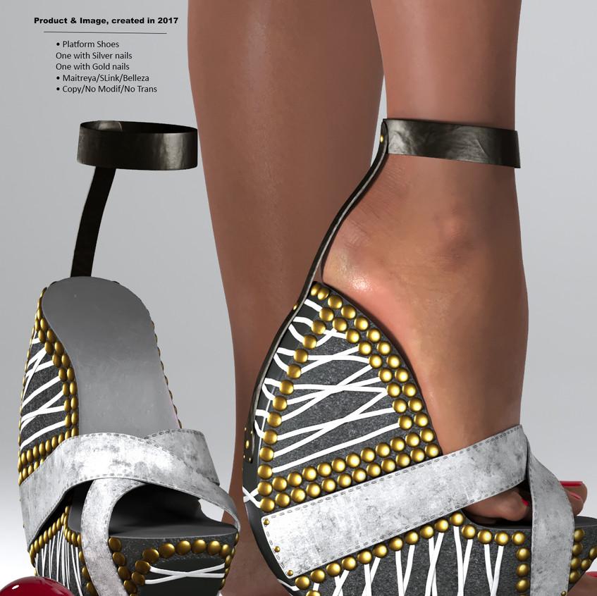 AZOURY - Ouroboros Platform Shoes [Grey]