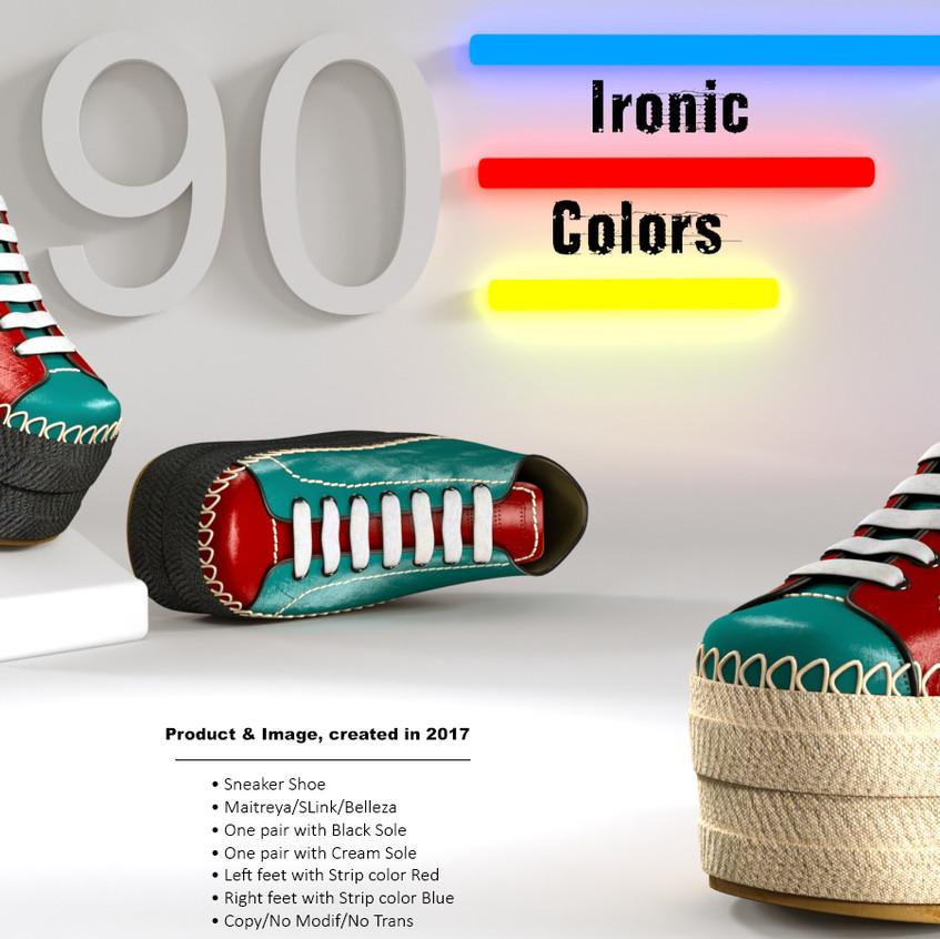 AZOURY - Ironic Sneaker Shoe [Colors]