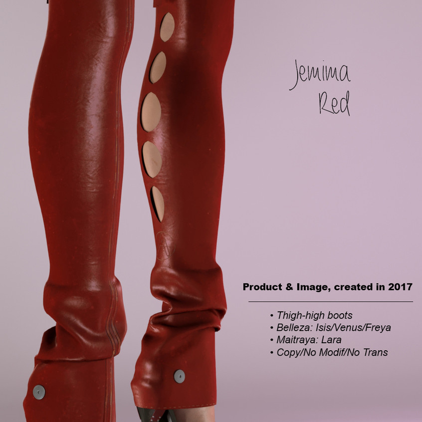 AZOURY - Jemima Thigh-high boots Red