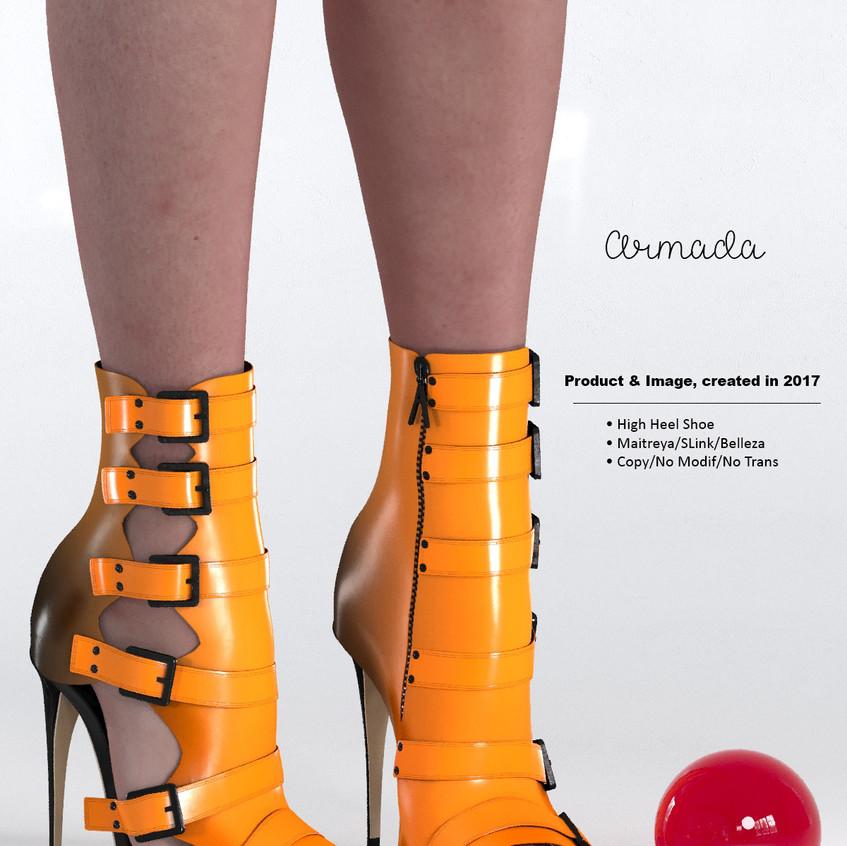 AZOURY - Armada High Heel Shoe [Yellow]