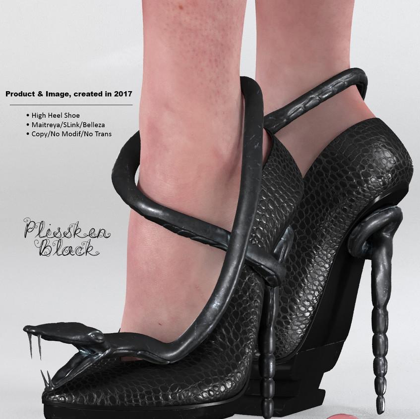 AZOURY - Plissken High Heel Shoe [Black]
