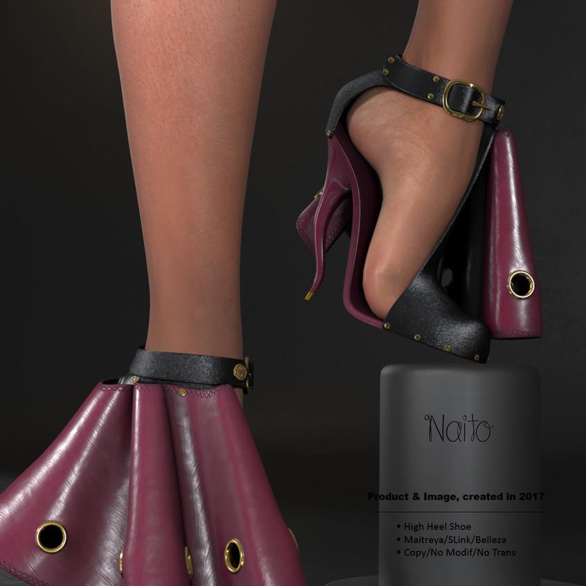 AZOURY - Naito High Heel Shoe [Pink]