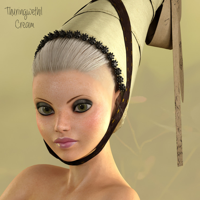 AZOURY - Thuringwethil Headwear [Cream]