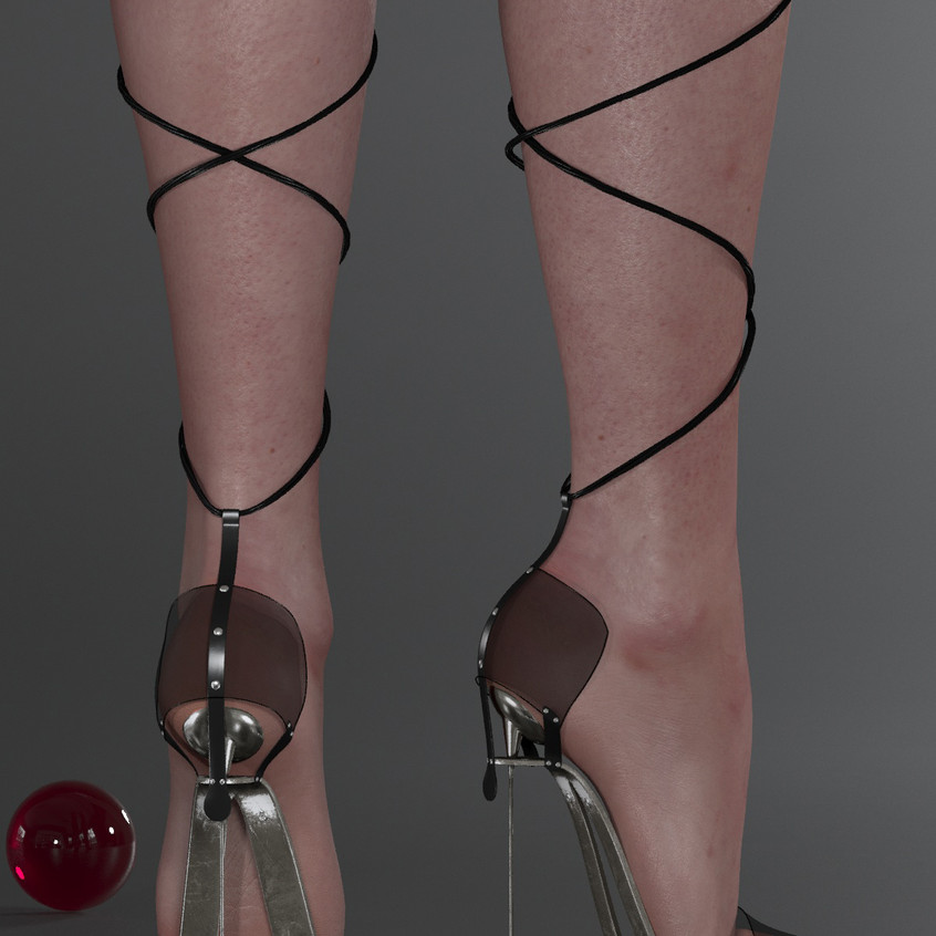 AZOURY - Obsession High Heel Shoe [Onyx]