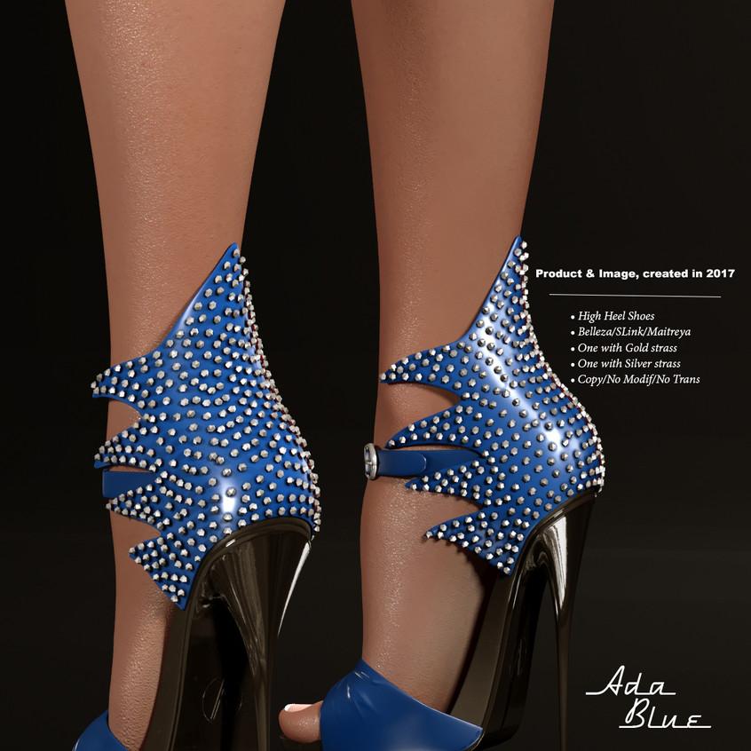 AZOURY - Ada High Heel Shoe [Blue]