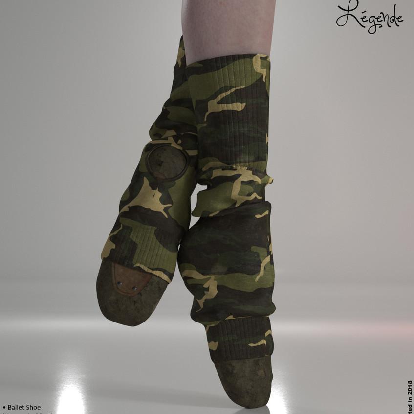 AZOURY - Legende Ballet Shoe {Militaire}