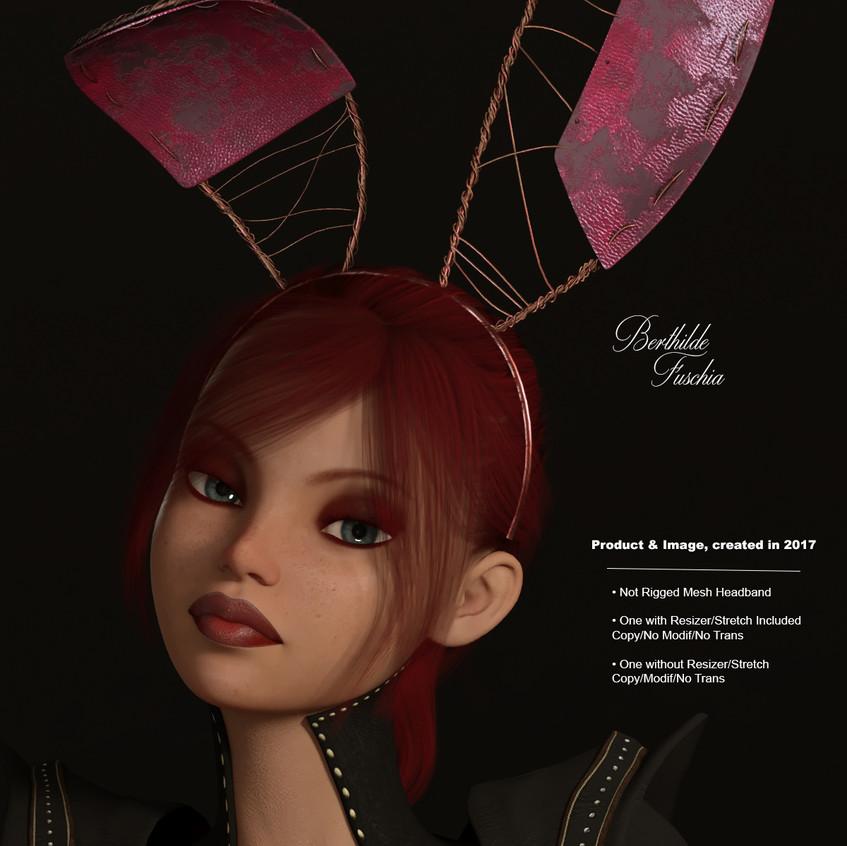 AZOURY - Berthilde Headband [Fuschia]