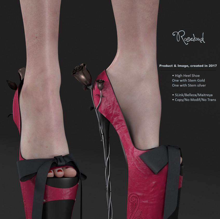 AZOURY - Rosebud High Heel Shoe [Fuschia]