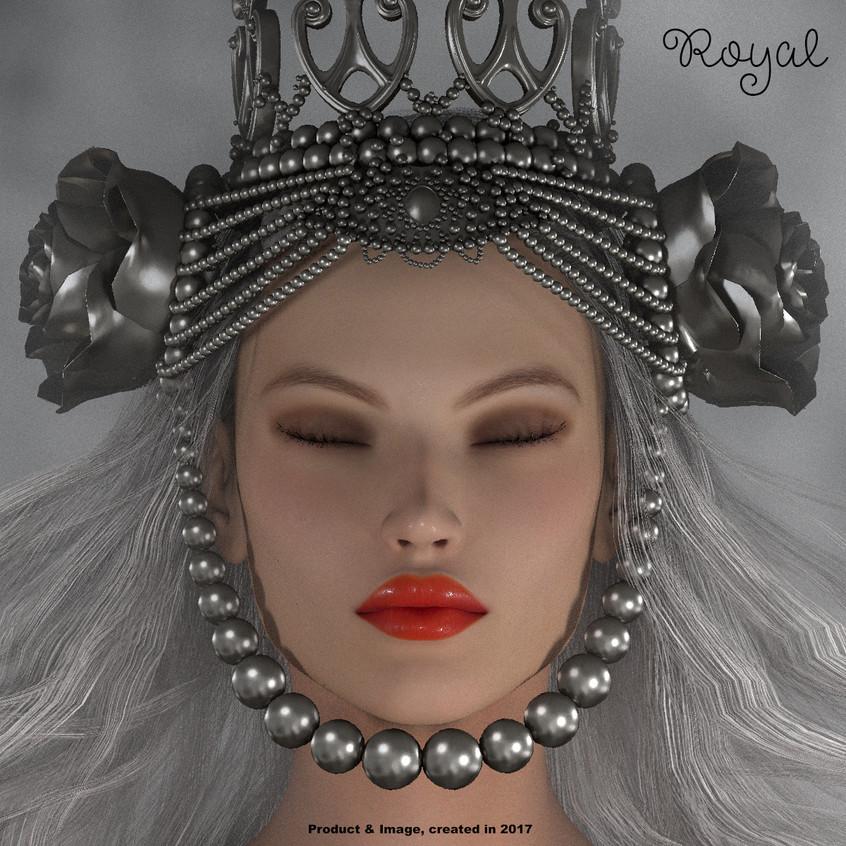 AZOURY - Royal Crown [Metallic Silver]