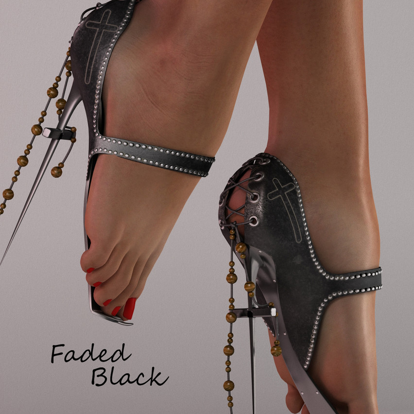 AZOURY - Faded Ballet Shoes [Black]