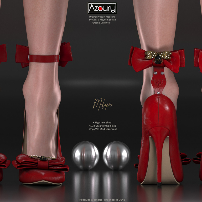 AZOURY - Melopee High Heel Shoe [Red]