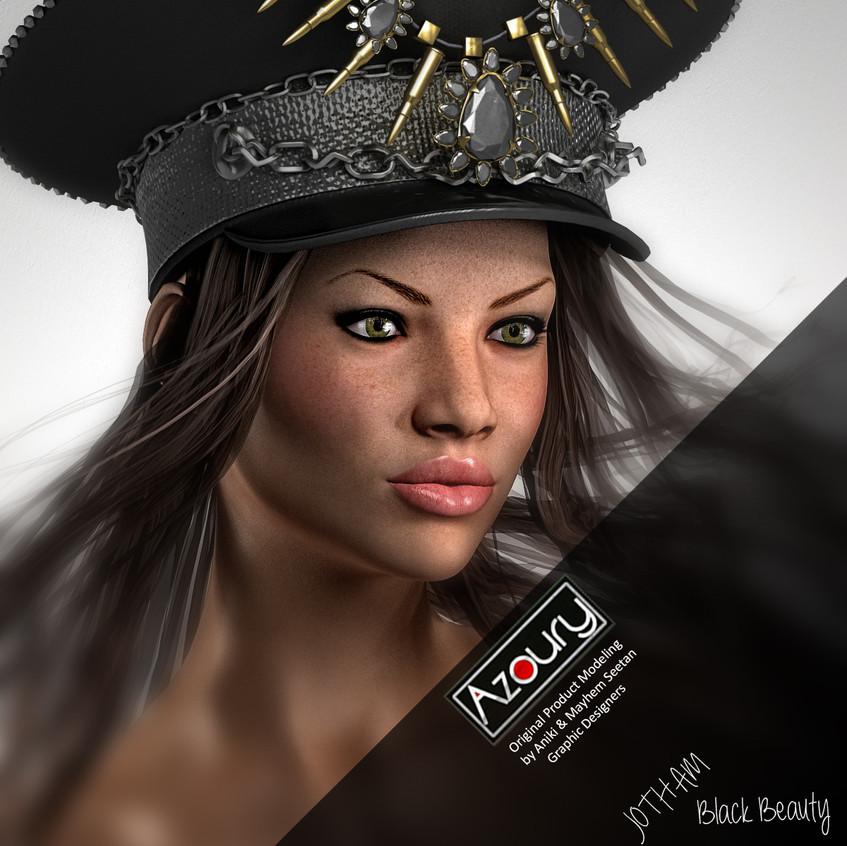 AZOURY Jotham Cap [Black Beauty]