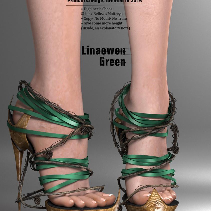 AZOURY - Linaewen High Heels Shoes [Green]