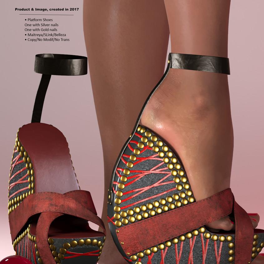 AZOURY - Ouroboros Platform Shoes [Red]