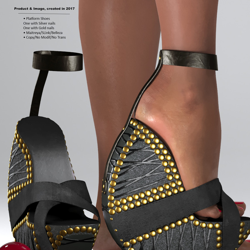 AZOURY - Ouroboros Platform Shoes [Black]