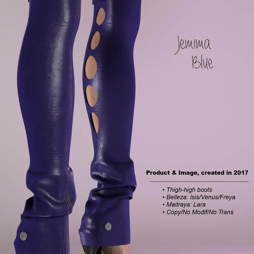 AZOURY - Jemima Thigh-high boots Blue