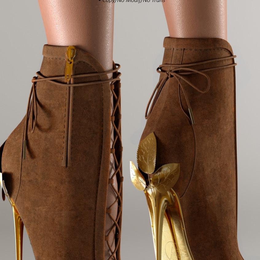AZOURY - Ahira High Heel Shoe [Brown]
