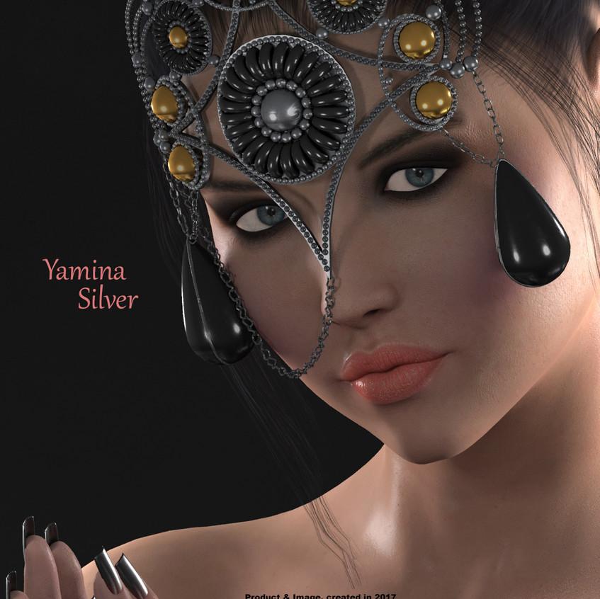 AZOURY - Yamina Mask [Silver]