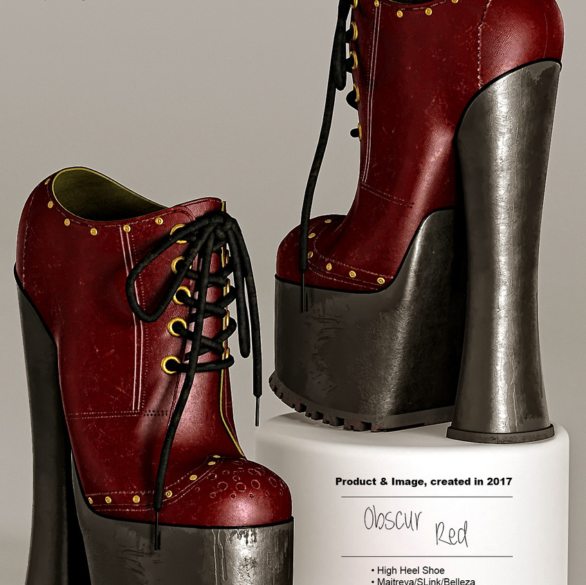 AZOURY - Obscur High Heel Shoe [Red]