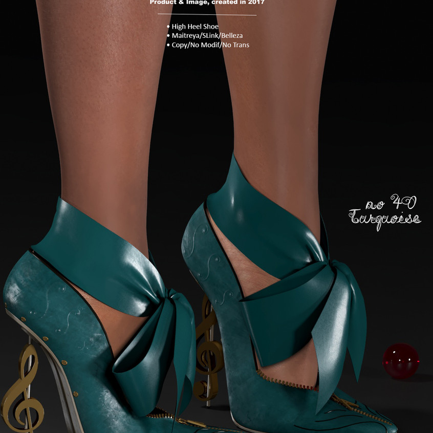 AZOURY - no 40 High Heel Shoe [Turquoise]