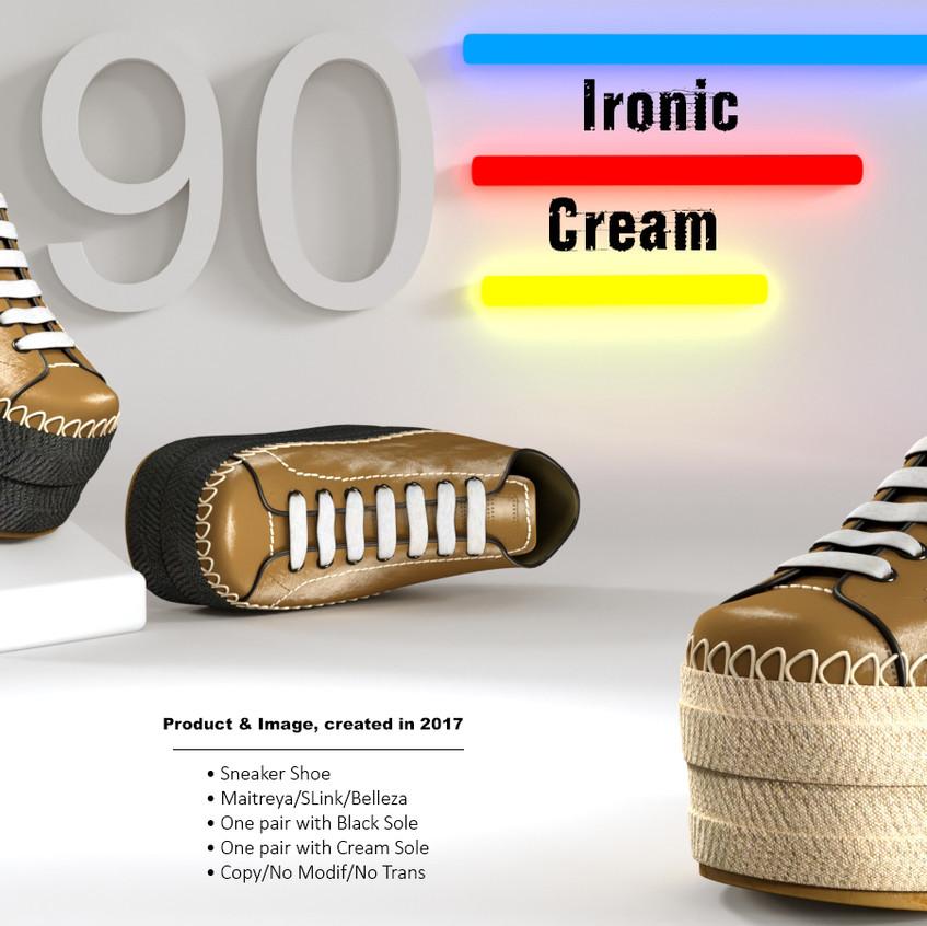 AZOURY - Ironic Sneaker Shoe [Cream]