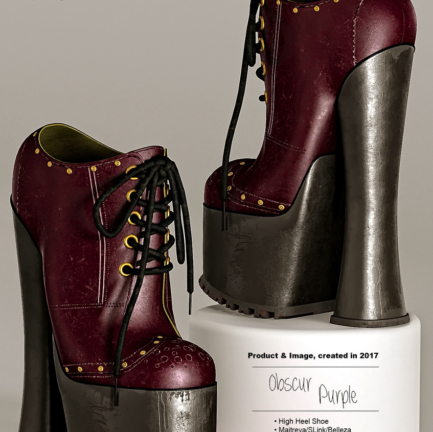 AZOURY - Obscur High Heel Shoe [Purple]
