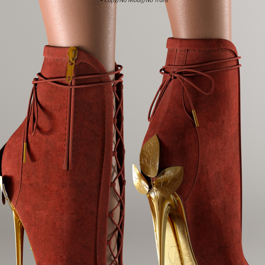 AZOURY - Ahira High Heel Shoe [Red]