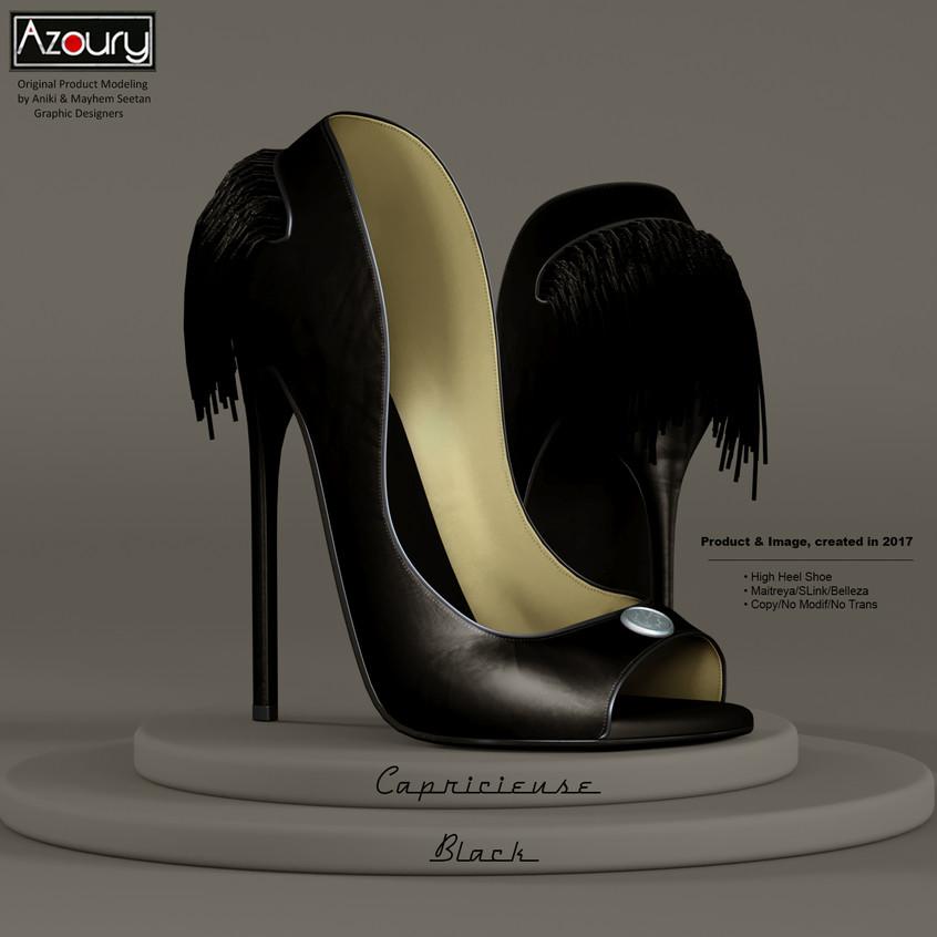 AZOURY - Capricieuse High Heel Shoe [Black]