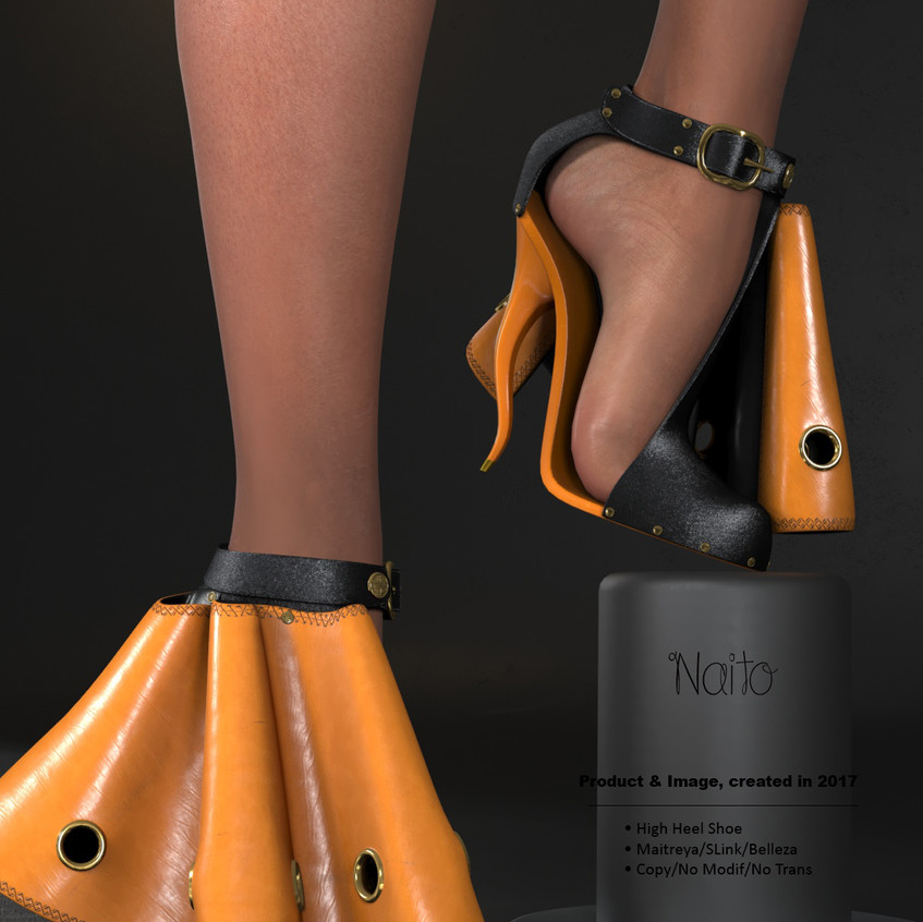 AZOURY - Naito High Heel Shoe [Yellow]