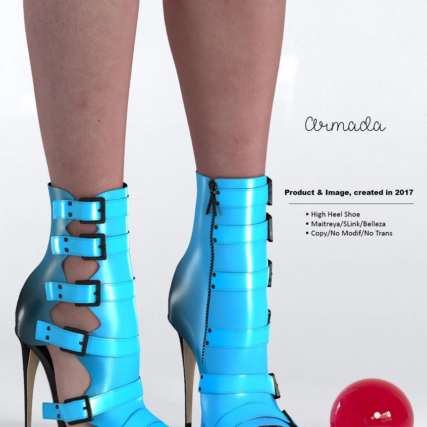AZOURY - Armada High Heel Shoe [Blue]