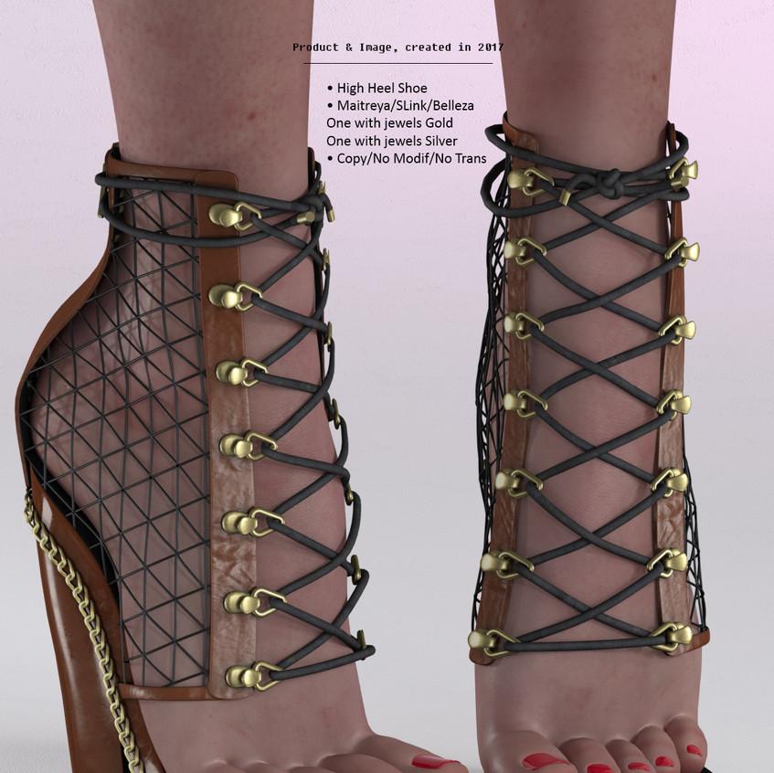 AZOURY - Tsaphkiel High Heel Shoe [Caramel]